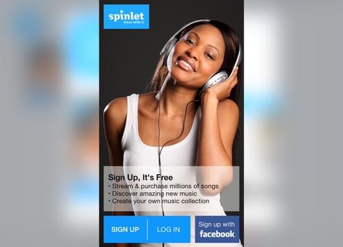 Spinlet app screenshot